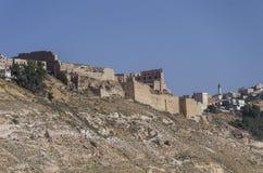 View to the crusader castle Kerak (Al karak) Royalty Free Stock Images
