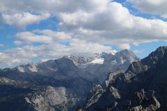 View to Dachstein massif with glacier from Grosser Donnerkogel Stock Images