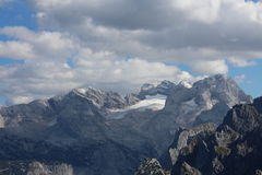 View to Dachstein massif from Grosser Donnerkogel Stock Image