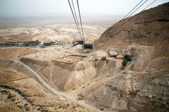 View to the Dead sea from Masada Royalty Free Stock Image