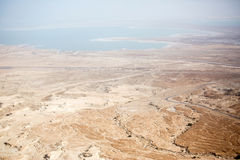 View to the Dead sea from Masada Stock Photos