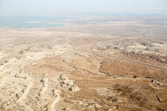View to the Dead sea from Masada Stock Image