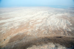 View to the Dead sea from Masada Royalty Free Stock Images