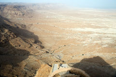 View to the desert from Masada Stock Images