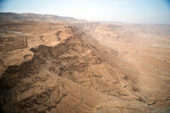View to the desert from Masada Stock Image