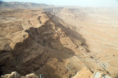 View to the desert from Masada Royalty Free Stock Image