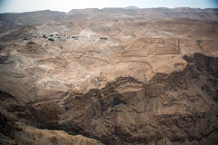 View to the desert from Masada Royalty Free Stock Photo