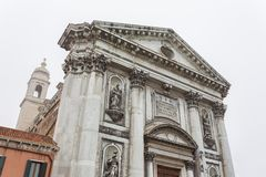 View to detail Church Il Gesuati or Church Santa Maria del Rosario Stock Image