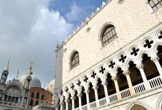 View to Dodge Palace at Piazza San Marco in Venice. Royalty Free Stock Photo