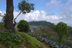 View to Doi Ang Khang Royal agricultural station in Chiang Mai province, Thailand Royalty Free Stock Image