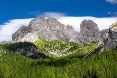 View to Dolomites mountains, Italy, Europe Royalty Free Stock Photos