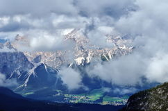 View to Dolomites mountains, Italy, Europe Stock Image