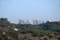View to doowntown Los Angeles from Griffith Park Stock Images