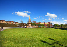View to the Doulton Fountain in Glasgow Stock Photo