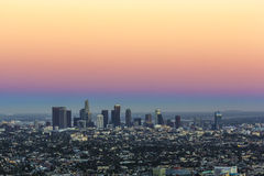 View to downtown Los Angeles Stock Image