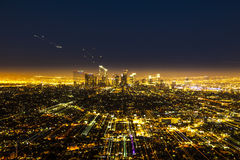 View to downtown Los Angeles with zoom effect Stock Photography