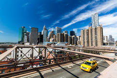 View to the Downtown NY. View to the Downtown Skyline of New York in summer 2015 Stock Photo