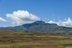 View to Drakensberg mountain Royalty Free Stock Photography