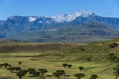 View to Drakensberg mountain Royalty Free Stock Image