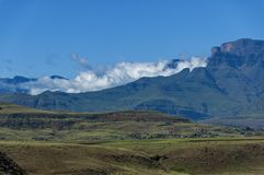 View to Drakensberg mountain Stock Photos
