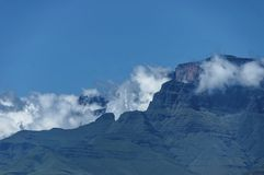 View to Drakensberg mountain Royalty Free Stock Images