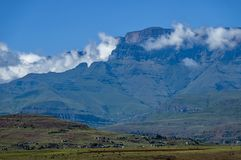 View to Drakensberg mountain Stock Photography