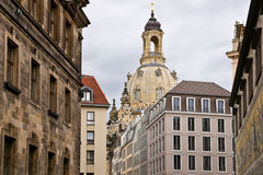 View to Dresdner Frauenkirche Royalty Free Stock Images