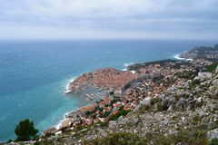 View to Dubrovnik old town stock photography