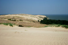 View to the dunes of the Curonian Spit Stock Photos