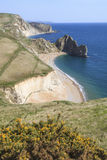 View to Durdle Door. Portrait photo showing Jurassic Coast and South West Coast Foot Path to Durdle Door Royalty Free Stock Images