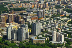 View to dwelling houses from Moscow International Business Center Royalty Free Stock Photos