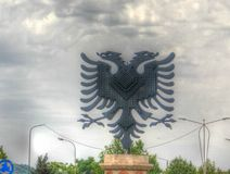 View to Eagle monument at the Eagle square, tirana, Albania. View to Eagle monument at the Eagle square in tirana, Albania stock photo