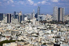 Downtown Tel-Aviv Skyline. A view to the east, depicting the cityscape of downtown Tel-Aviv and its neighbouring city Ramat-Gan. This is the central skyscraper Royalty Free Stock Photos