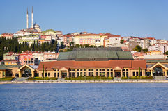 The view to the eastern bank of Golden Horn, Istanbul Stock Photos
