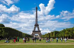 View to Eiffel Tower in Paris royalty free stock photo
