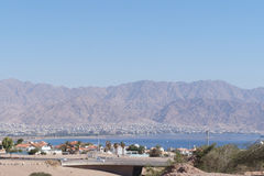 View to the Eilat gulf Stock Photography