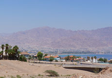 View to the Eilat gulf and Aqaba Stock Photo