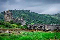 View to Eilean Donan Castle in Scotland royalty free stock photos