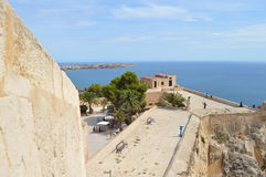 A View To El Campello From Alicante Castle Stock Image