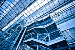 View to empty stairs in office Royalty Free Stock Photos