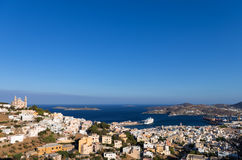 View to Ermoupolis, the capital of Syros island, Cyclades, Greece Royalty Free Stock Photo