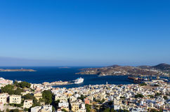 View to Ermoupolis, the capital of Syros island, Cyclades, Greece Royalty Free Stock Image