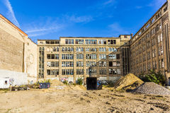 View to facade of a demlition house in Berlin Royalty Free Stock Photography