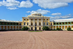 View to the facade of Pavlovsk palace. Stock Image