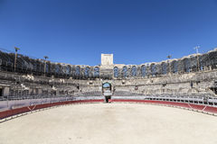 View to famous arena in Arles, France royalty free stock photo