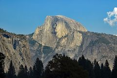 Half Dome at Yosemite National Park California. A view to the famous Half Dome at Yosemite National Park California Royalty Free Stock Photos