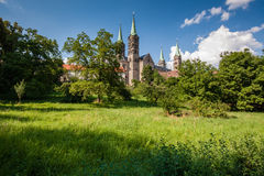 View to the famouse cathedral in Bamberg Stock Image