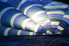 A view to the filling hot air balloon royalty free stock photos