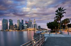 View to the financial district of Singapore stock images