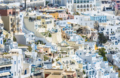 View To Fira in Santorini, Greece Royalty Free Stock Photography
